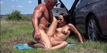Lustful big tits Angelina gets banged