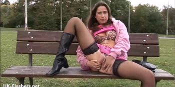 Sexy amateur Lanas public nudity
