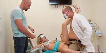 Busty blonde teen banged at dentist