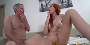 Redheaded Teenager Drilled