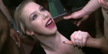 Naughty Girl Grace Harper Takes Sticky Bukkake