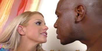Babes share black cock