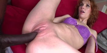 Laila Mason rides huge black cock