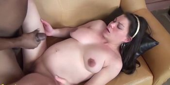 Young Extreme Pregnant Teen Enjoys Her First Big Black Cock Interracial Porn Lesson