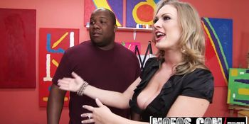 Mofos - Milfs Like It Black - Slutty Professor starring Vicky Vixen