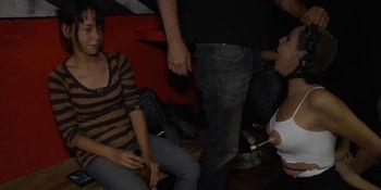Euro slave anal fucked at night club