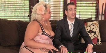 Fat ho in lingerie jizzed