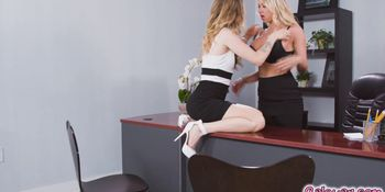 Karla the applicant had a one night stand with  the boss Katie