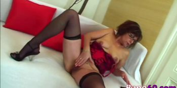 Naughty mature pounded by young dude