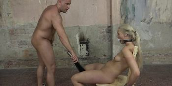 Dick sucking beauty dominated and titty fucked