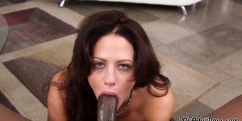 Busty bitch got deep throat by BBC