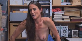 Sofies mature pussy got fucked doggy style at the office