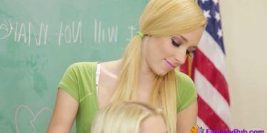 Lesbian Teacher Has Fun With Schoolgirl (Blonde Teacher) TNAFlix ...